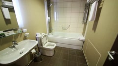Bathroom in Apartment in Gorki Gorod in Sochi. Stock Footage
