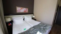 Bedroom in Apartment in Gorki Gorod in Sochi. Stock Footage