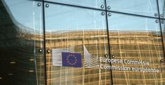 European Commission logotype Stock Footage