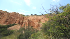 The Red Ravine landscape Stock Footage