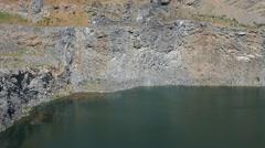 Volcanic lake Stock Footage