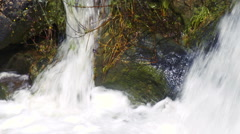 Video of the bottom of a waterfall shot in Israel. Stock Footage