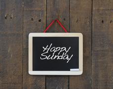 Happy Sunday. Stock Photos