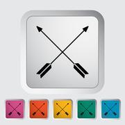 Arows icon Stock Illustration