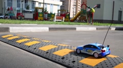 Stock Video Footage of Radio controlled toy car Chevrolet in Moscow.