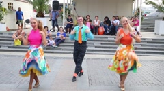 Dancers perform on Festival Moscow jam in Moscow Stock Footage