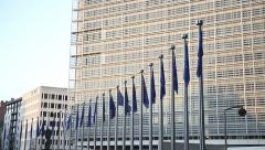 European Commission building Stock Footage