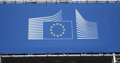 European Commission logotype Stock Footage