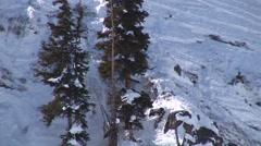 Snowboard Jump Stock Footage