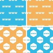 Stock Illustration of WWW pattern set, colored