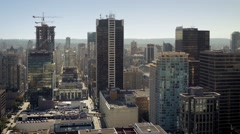 Downtown City Area In The Sun - stock footage