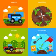 Agriculture Concept Set Stock Illustration