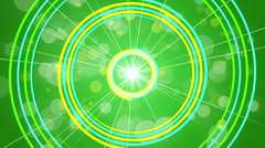 Green abstract background, rotating spiral, loop Stock Footage