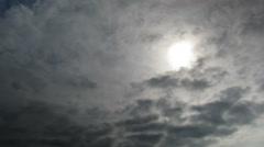 Clouds moving in the blue sky - stock footage