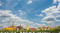 Wat Phra Si Rattana Satsadaram or wat phra kaew beautiful architecture - stock footage