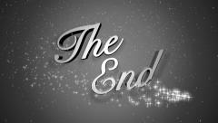 The End Holiday Background Title Page Stock Footage