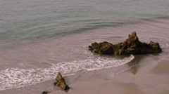 Rocks at the waters edge - stock footage