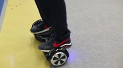 Segway at exhibition city transport ExpoCityTrans 2014 Stock Footage