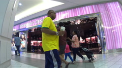 One side of people shopping inside Burnaby shopping mall with 4k resolution. Stock Footage