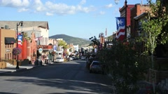 Park City main street tight Stock Footage