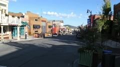 Park City main street wide Stock Footage