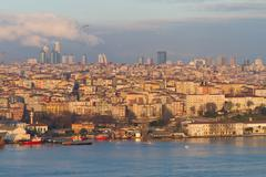 View of Halic and Istanbul - stock photo
