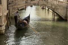 Gondola in a Venice. - stock photo