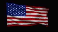 Stock Video Footage of FLAG-USA-stiff-med-4k-loop-alfa