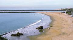 The amazing Southern California beach coastline Stock Footage