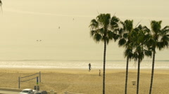 Southern California coastline in the summer Stock Footage
