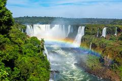 Iguazu Falls in Foz do Iguacu, Brazil - stock photo