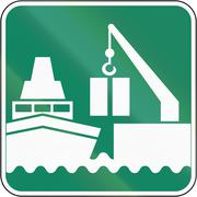 Industrial Harbor in Canada Stock Illustration
