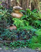 Twin pottery vase - stock photo