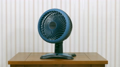 Oscillating Fan on Table Stock Footage