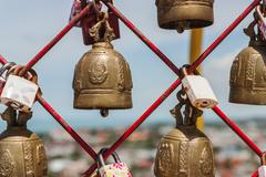 Bell of love, Bell of believe Stock Photos