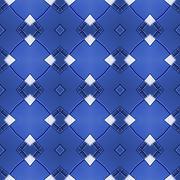 Seamless ornate mosaic pattern or background - stock illustration