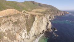 California Coastline-Highway 1 aerial view Stock Footage