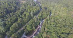 AERIAL MINDEN RAPIDS and FLY OVER 4K Stock Footage