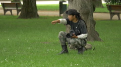 Stock Video Footage of Photographer preparing for a photo session in Munich