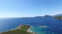 Island of Mamula fortress, the entrance to the Boka Kotorska bay, Montenegro Stock Footage