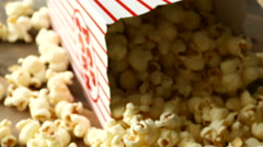 4K: Slide Down Across Popcorn To Movie Tickets Stock Footage