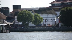 Shakespeare Theatre, London, England Stock Footage