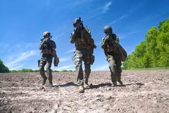 jagdkommando soldiers special forces - stock photo