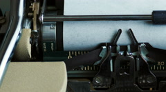 4K: Typewriter Writes Once Upon A Time Story When Keys Get Stuck - stock footage