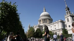 St Pauls Cathedral wide angle, London, England, UK, GB, Europe Stock Footage