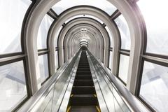 The Escalator Of The Floating Garden Observatory Stock Photos