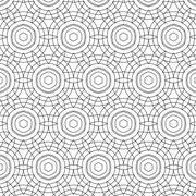 Stock Illustration of Primitive simple  grey retro seamless pattern