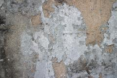 Close up of an old colonial wall in Asia with a variety of textures. A primar Stock Photos