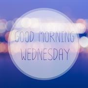 Stock Illustration of Good Morning Wednesday on blur bokeh background