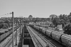 Odessa port railway infrastructure - stock photo